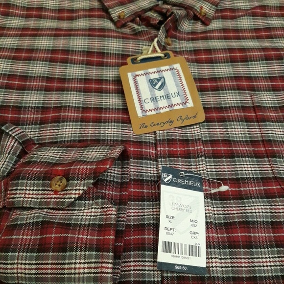 Daniel Cremieux Other - Cremieux Oxford Flannel Mens Shirt Fall NEW XL HOT